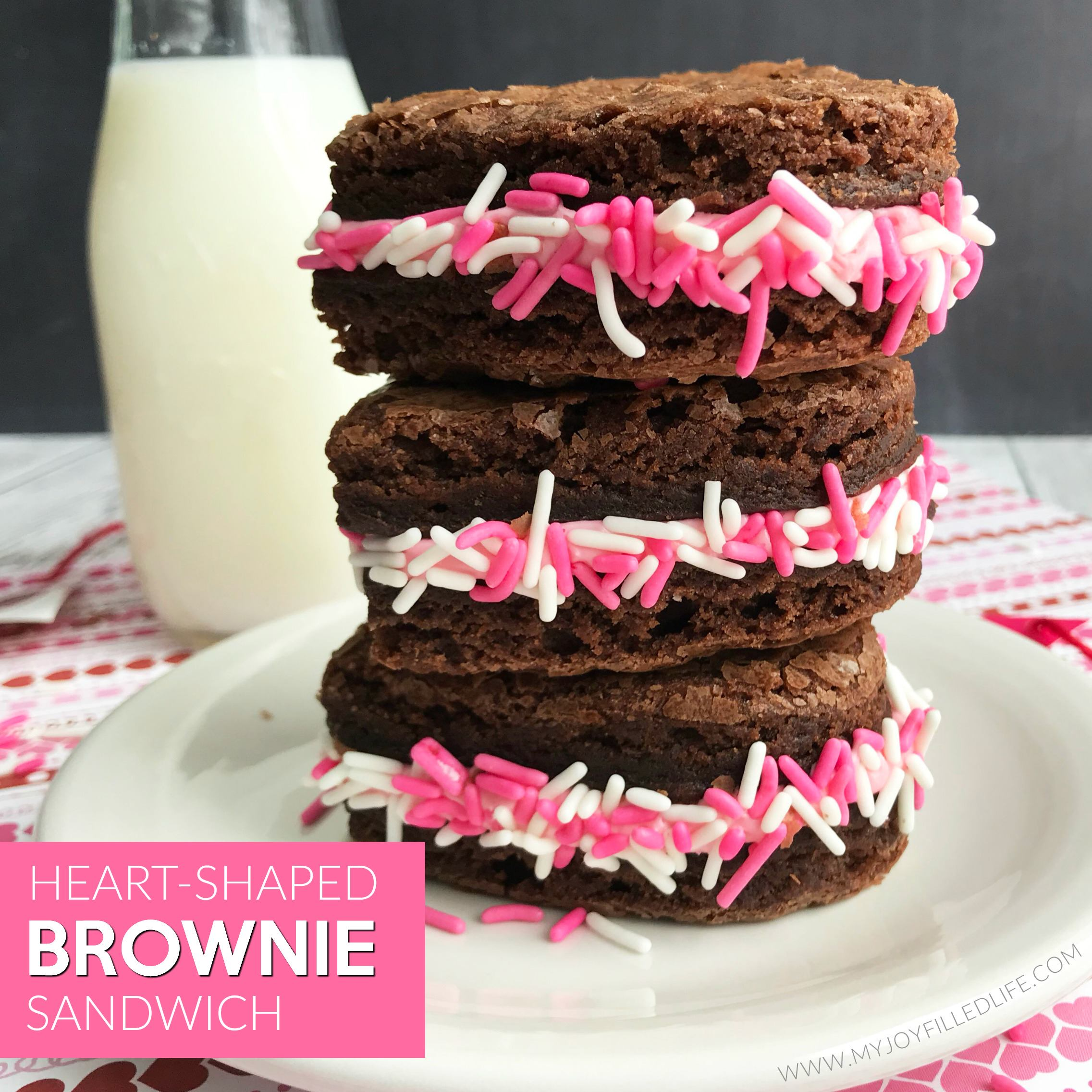 Heart-Shaped Brownie Sandwiches